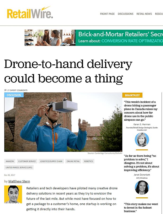 RetailWire Drone Article 102017