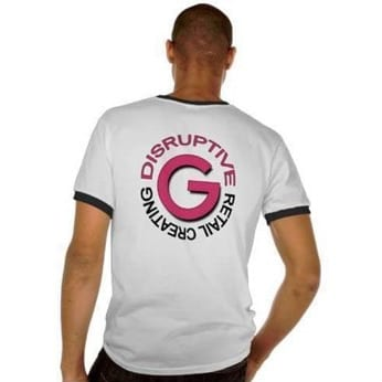 Gustie Men's T-shirt, Create Disruptive Retail, Gustie Creative