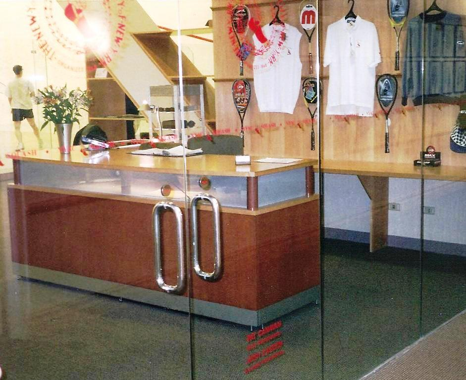 Squash Shop-in-Shop for Private Club designed by Gustie Creative LLC
