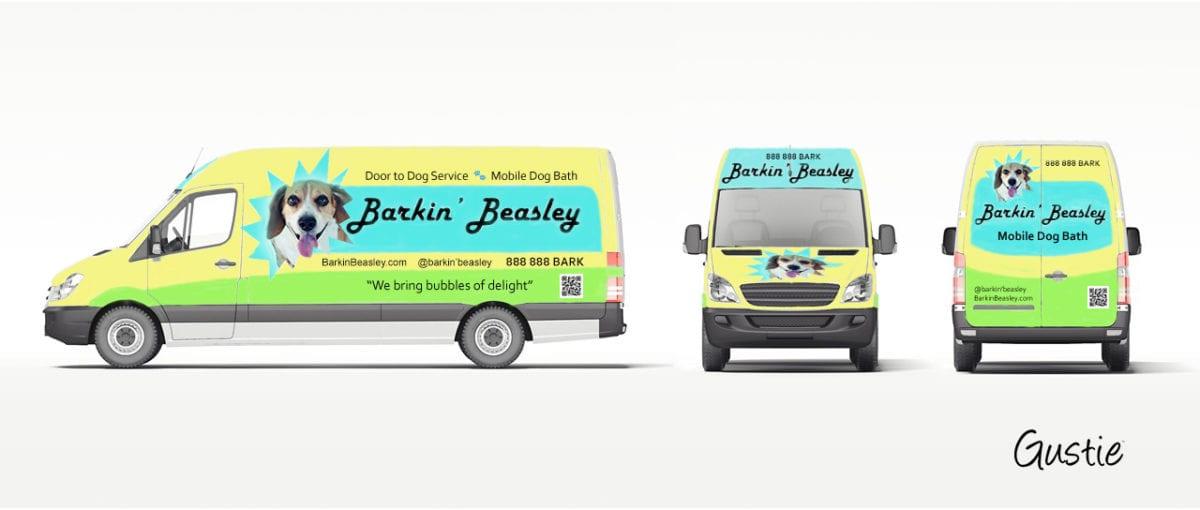 Barkin' Beasley Concept, RV, Retail Van by Gustie Creative LLC