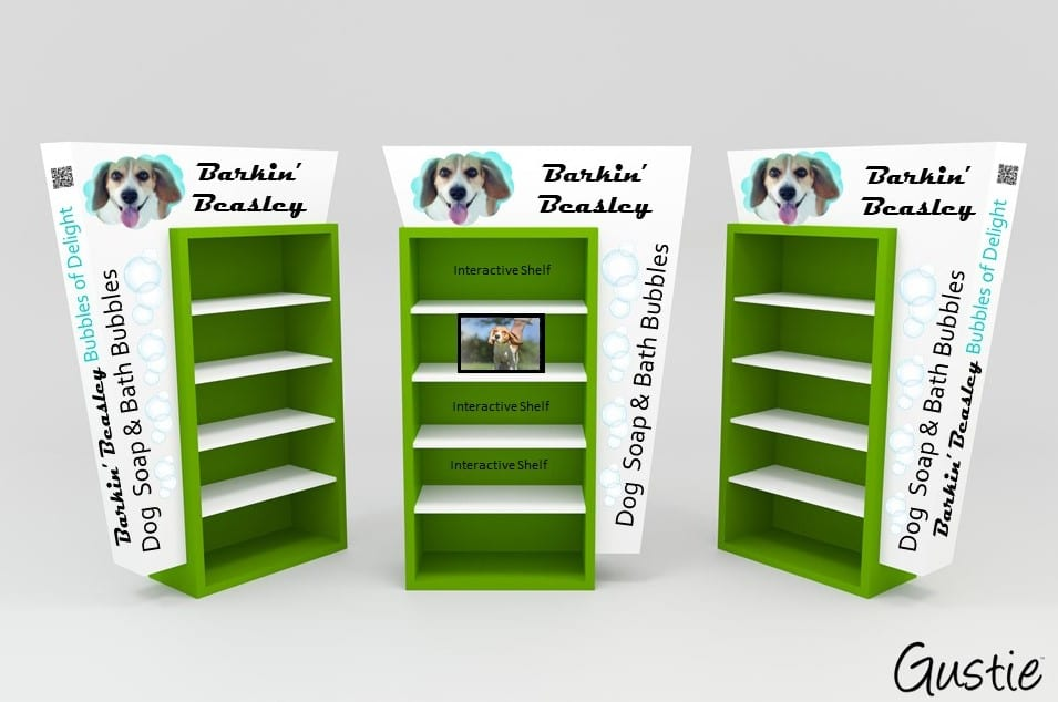 Barkin Beasley POP Display Concept by Gustie Creative LLC