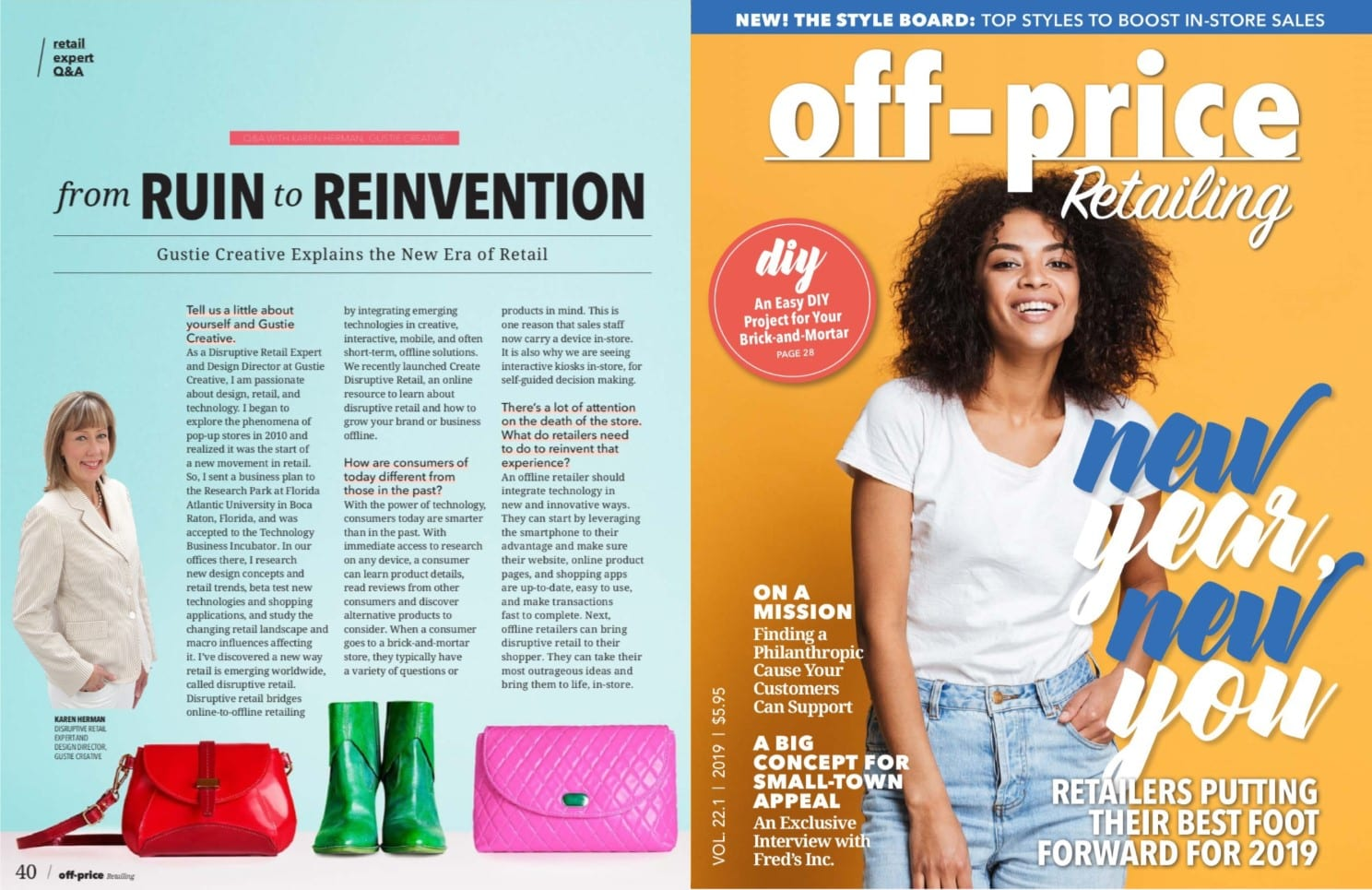 Karen Herman of Gustie Creative in Off-Price Retailing Jan 2019